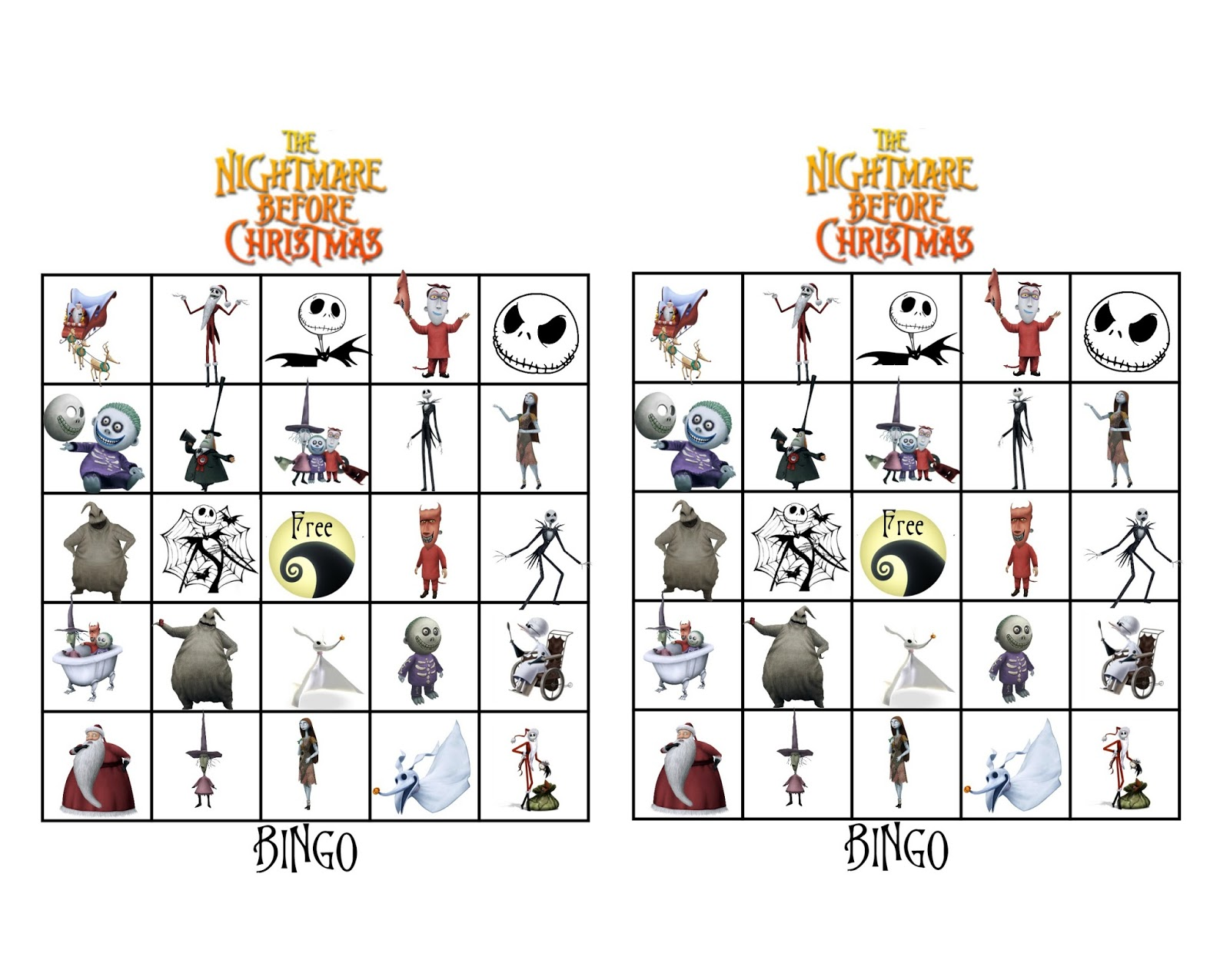 Musings of an Average Mom: Free Printable Nightmare Before Christmas ...