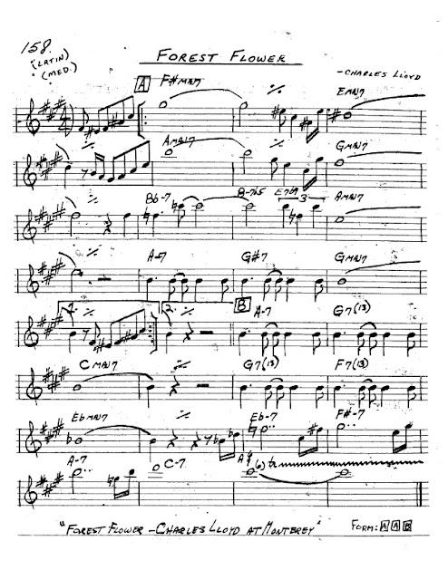 Partitura Saxofón Charles Lloyd