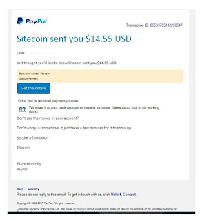 sitecoin, PTC website, paying PTC, make money online