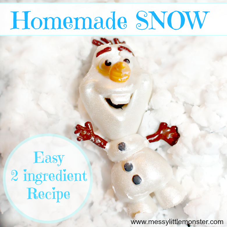 Follow our easy homemade fake snow recipe to find out how to make DIY snow from baking soda. A fun sensory experience for toddlers and preschoolers and simple play activity for kids. Set up snowy small worlds for a winter, artic or frozen theme.
