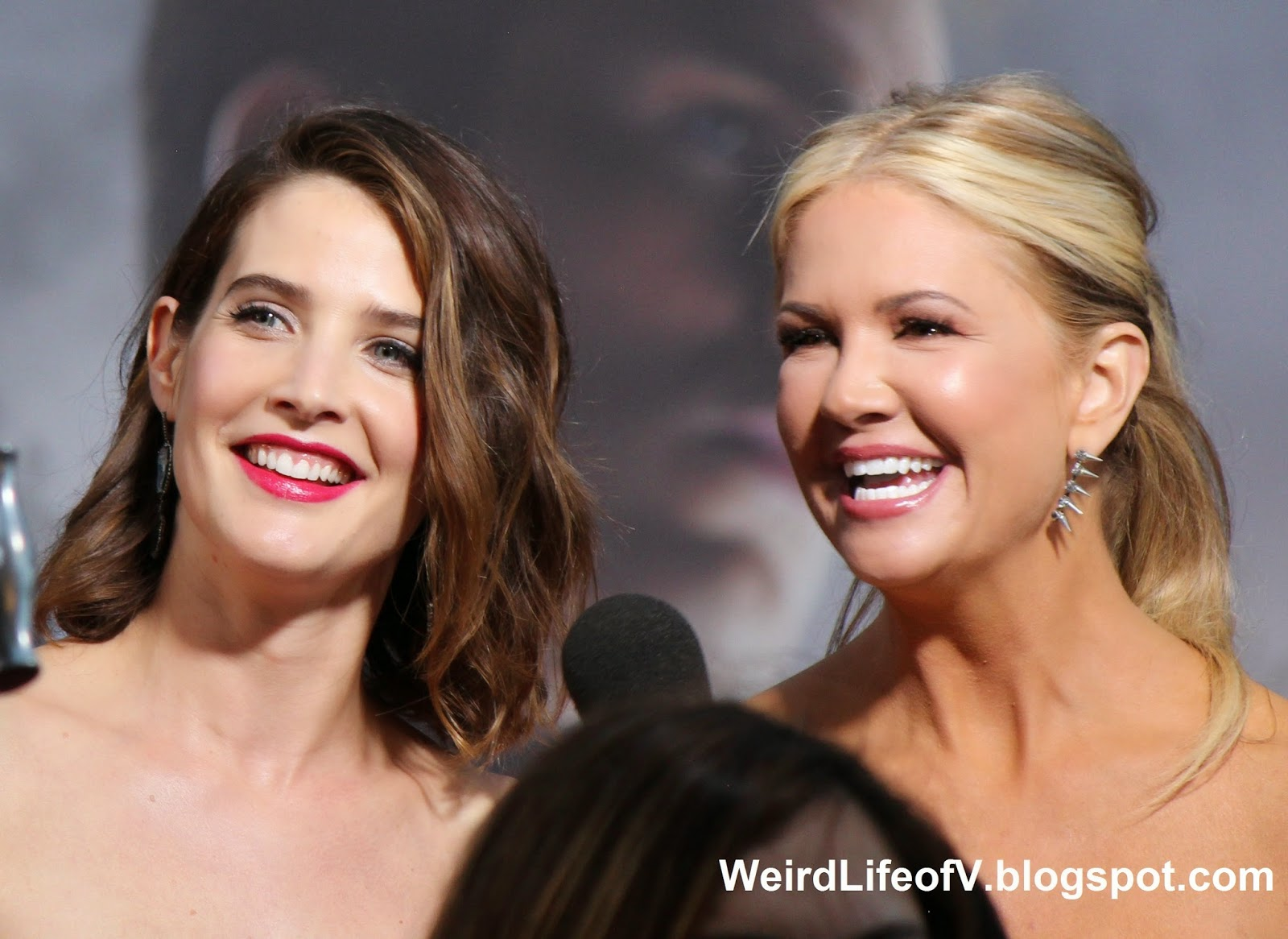 Cobie Smulders with Nancy O'Dell
