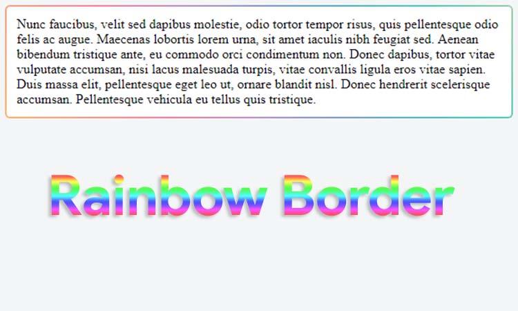 Membuat Efek Rainbow Border Dengan CSS