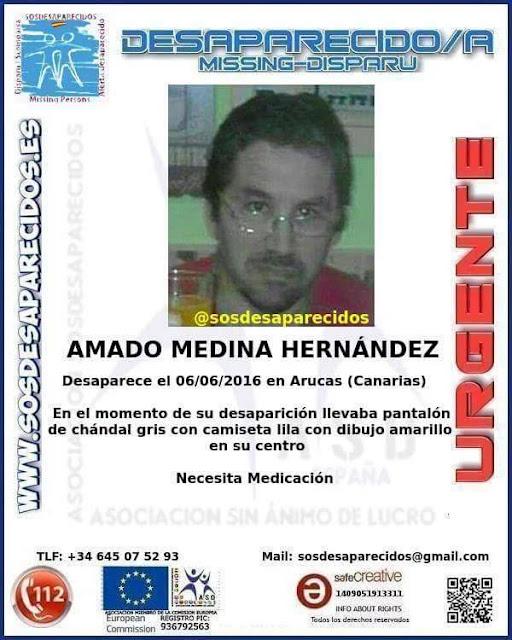 Amado Medina Hernández desaparecido Arucas , Firgas