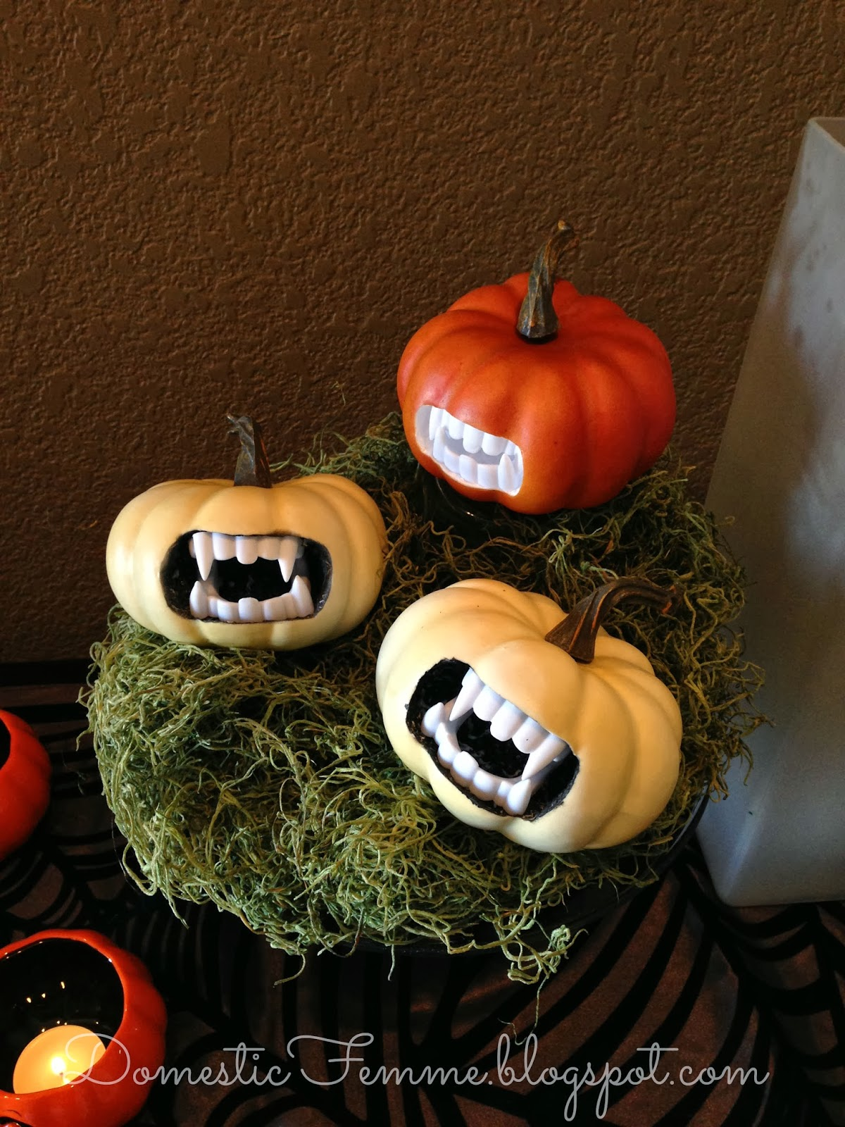 Mini Pumpkin Decorating Ideas Halloween Craft Vampire