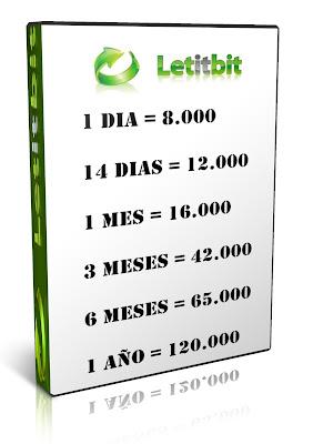 Venta Cuentas Premium Letitbit