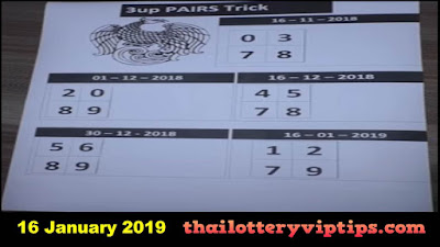 Thai lottery VIP OK free 3up Direct 3D formula 16 January 2019