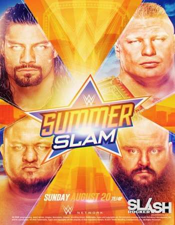 Poster of WWE SummerSlam 20th August 2017 900MB full download