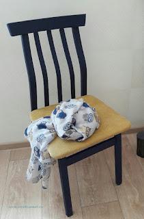 Перекраска стула в синий цвет