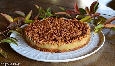Tarte crumble à la compote rhubarbe-banane et au pain d'épices ©Popote et Nature