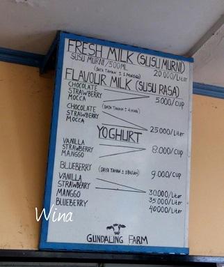 daftar harga di pasteurisasi susu sapi gundaling berastagi
