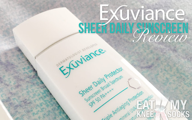 The weather is finally warming up, and it's becoming even more important to protect your skin against the sun! In light of this, I'll be reviewing my new favorite sunscreen: Exuviance's sheer daily protector!