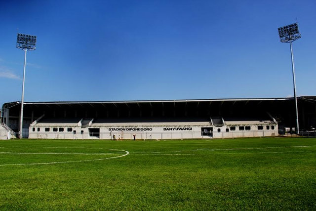 Stadion Diponegoro ikon baru kota Banyuwangi.
