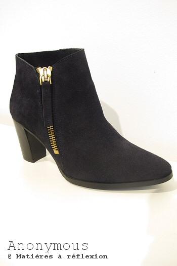 SOLDES boots cuir noir Anonymous