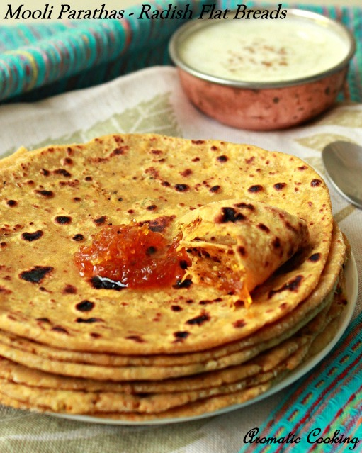 best cooking: Mooli Parathas/ Radish Flat Breads