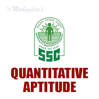 SSC CPO : Quantitative Aptitude Quiz | 01- 06 - 18
