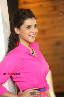Actress Mannar Chopra in Pink Top and Blue Skirt at Rogue movie Interview  0147.JPG