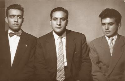 Los ajedrecistas Joaquim Travesset, Melcior Carrera y Juli Picatoste