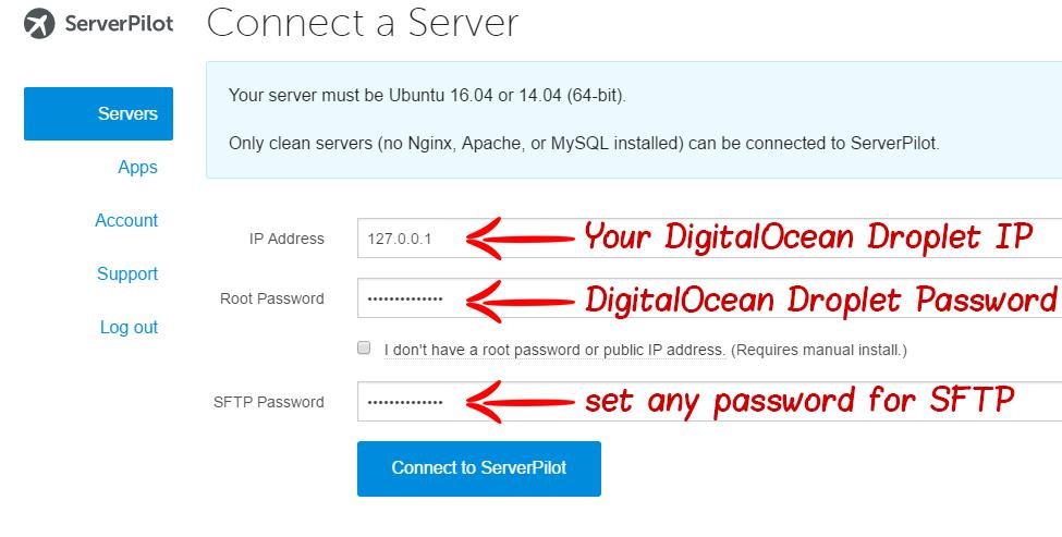 ServerPilot DigitalOcean