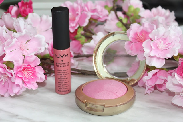 NYX San Paulo Lip Cream & Milani Delizioso Blush, Pink, Flowers, Girly, Blush, Lip, Makeup, Beauty
