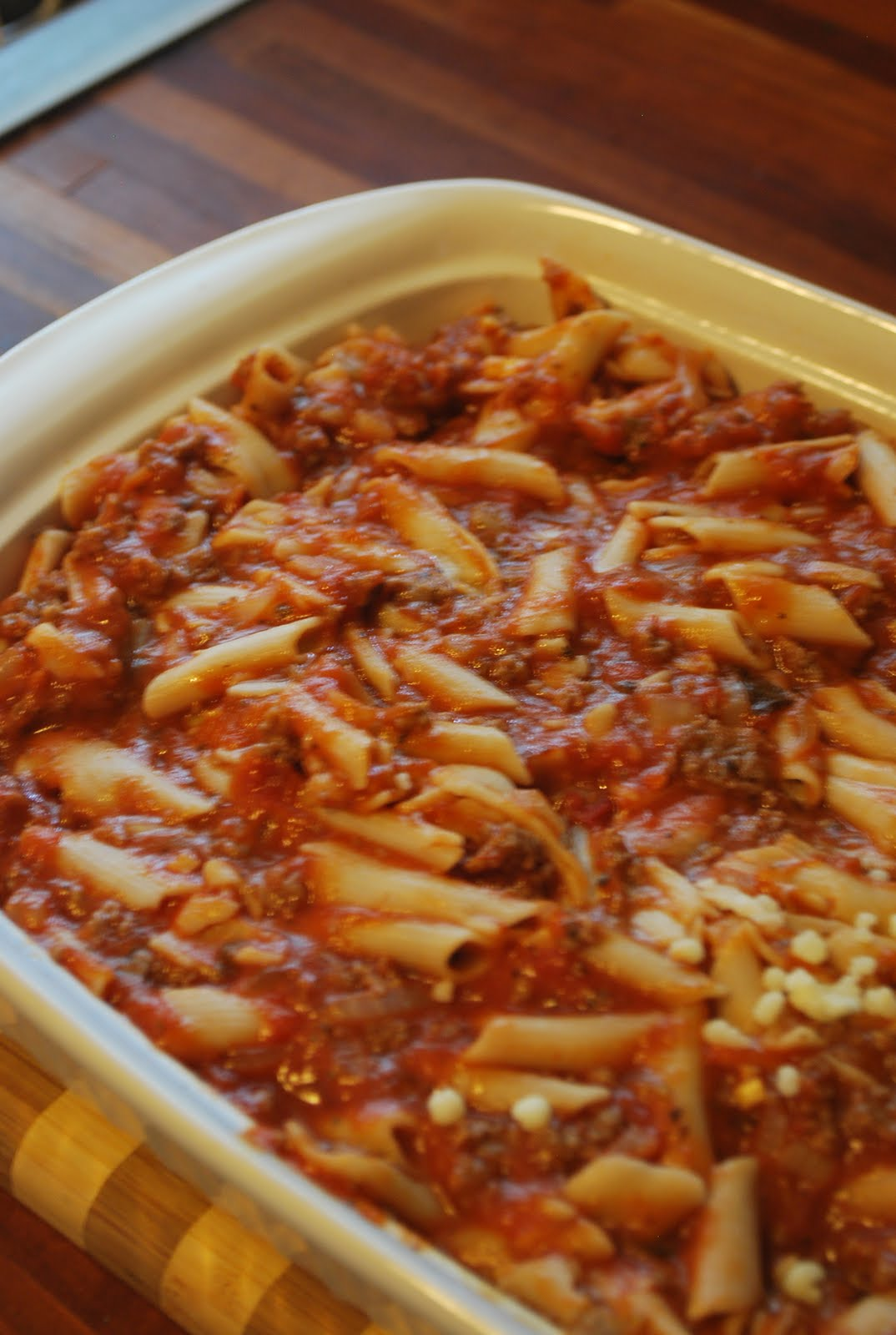 candida and food: baked ziti - you can cook pasta and eat