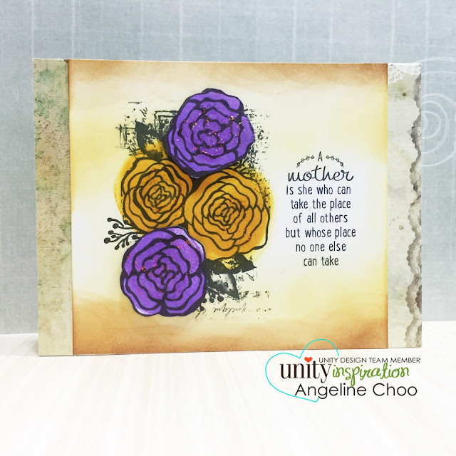 ScrappyScrappy: Vintage roses card #scrappyscrappy #unitystampco #stamp #stamping #card #cardmaking #timholtz #distressink #stickles #roses #vintage