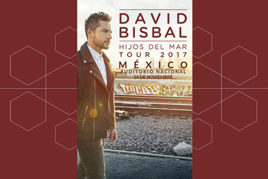 David Bisbal, Hijos Del Mar Tour 2017, Mexico, Auditorio Nacional, boletos