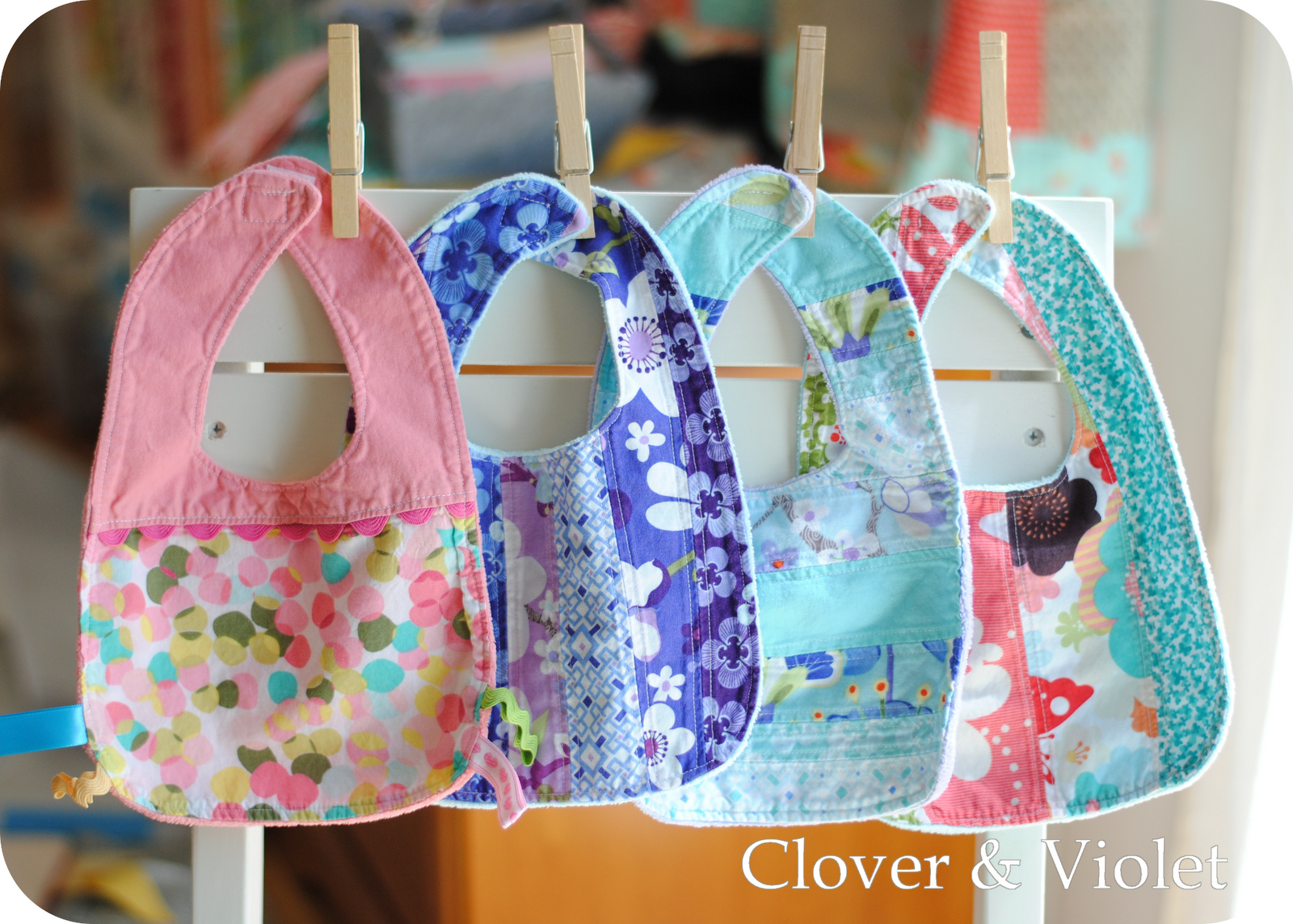 Little Baby Bibs Tutorial Clover Amp Violet