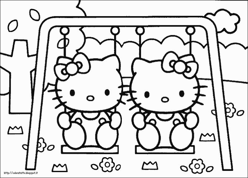 Hello Kitty Disegni Da Colorare