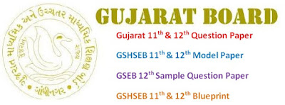 GSEB 11th & 12th Model Questions Papers 2017