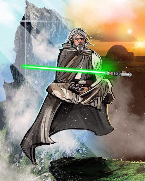 Last Jedi Star Wars Luke Skywalker Art