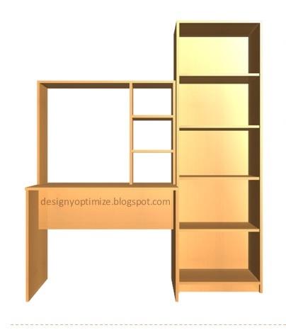 Dise o de muebles madera muebles escritorio biblioteca for Diseno de muebles de escritorio