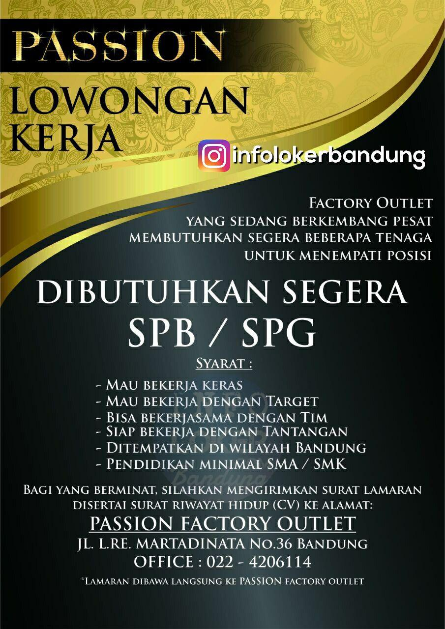 Lowongan Kerja Passion Factory Outlet width=