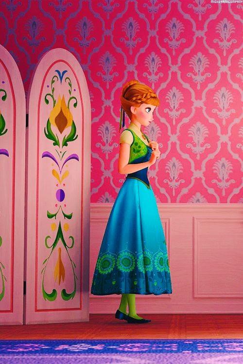 Vestido novo de Ana em Frozen Ferver