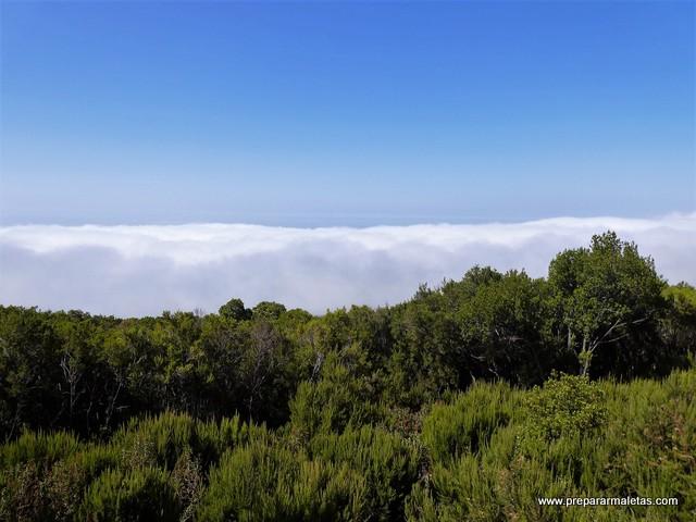 nubes desde el Teide