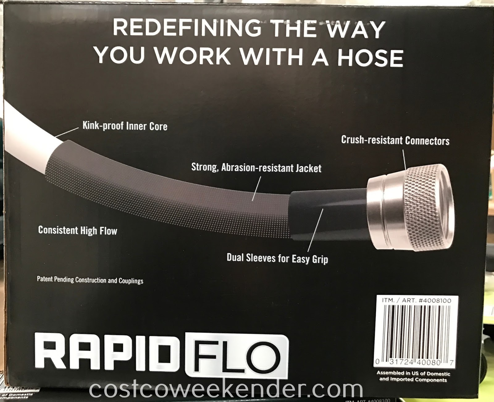 Water the plants in your backyard with the Teknor Rapid Flo Garden Hose