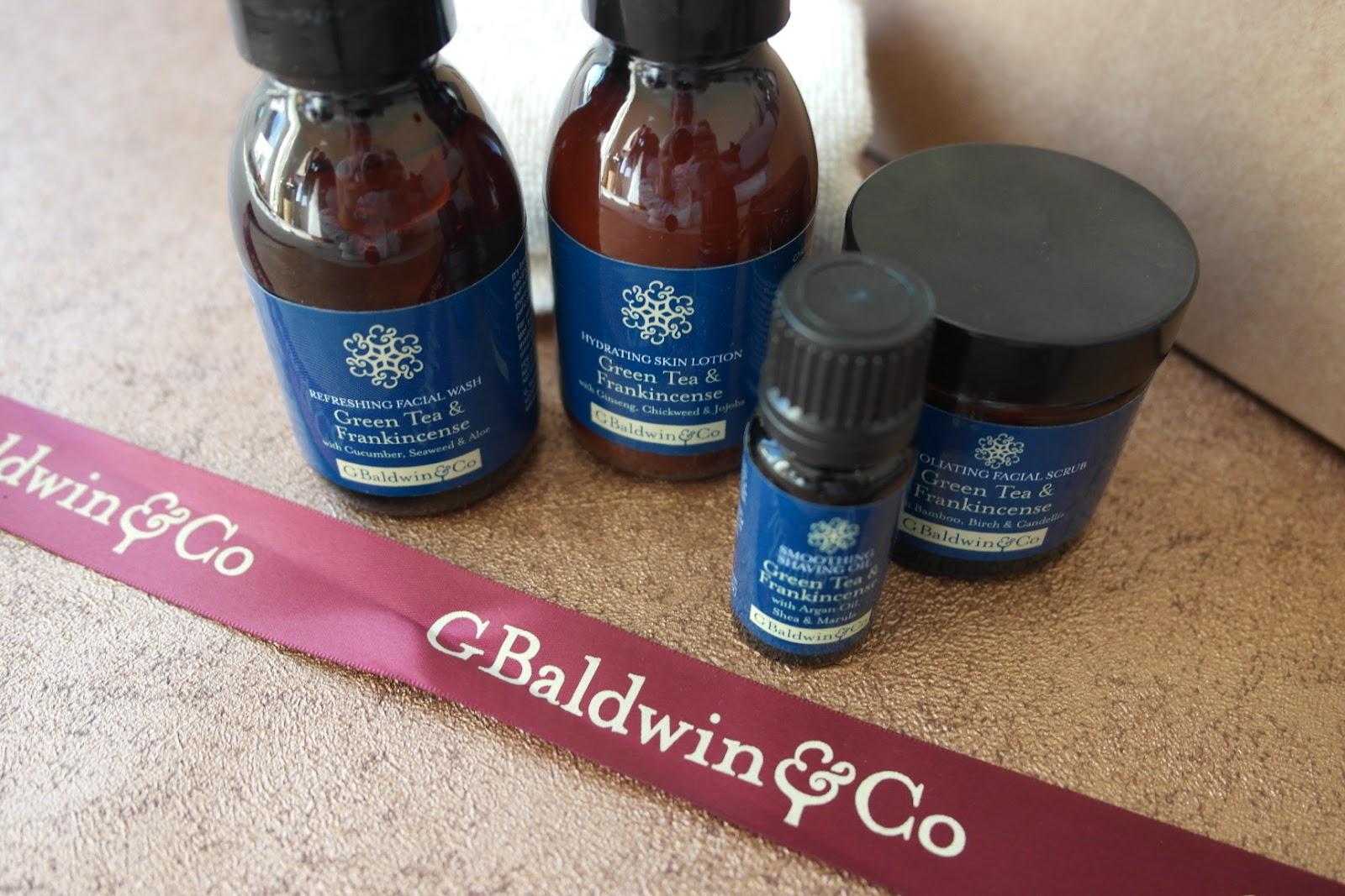 G Baldwin & Co Men's green tea & frankincense gift set review