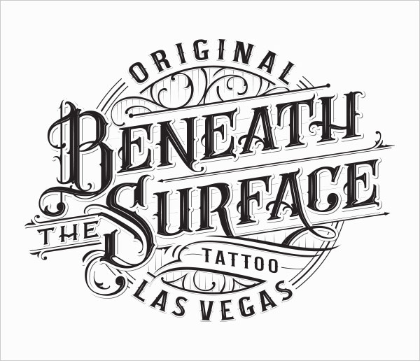 Hand lettering usage in logo design