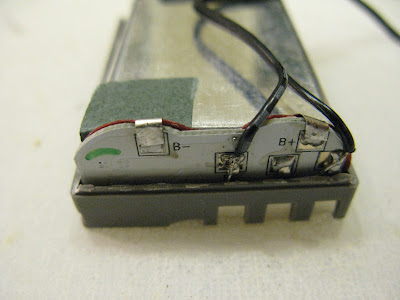 New Leads Soldered to DSLR Camera Battery in Parallel