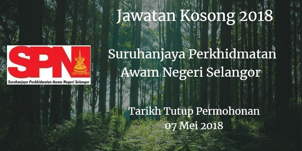 Jawatan Kosong SPN Selangor 07 Mei 2018