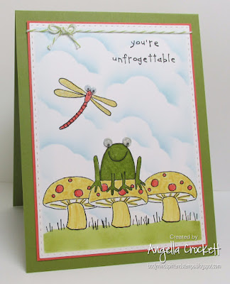 ODBD Custom Double Stitched Rectangles Dies, Stampin Up Unfrogettable, Card Designer Angie Crockett