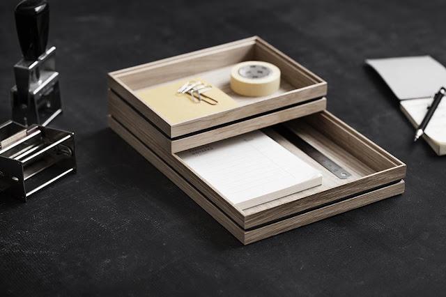 Boites de rangement en bois design