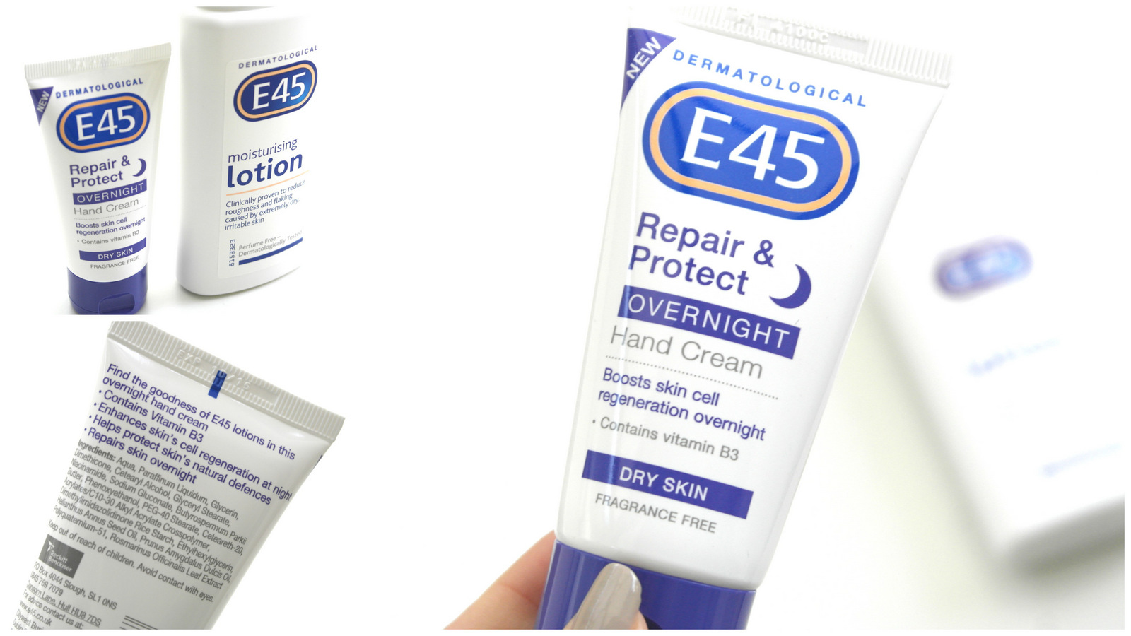 E45 Overnight Hand Cream + Lotion