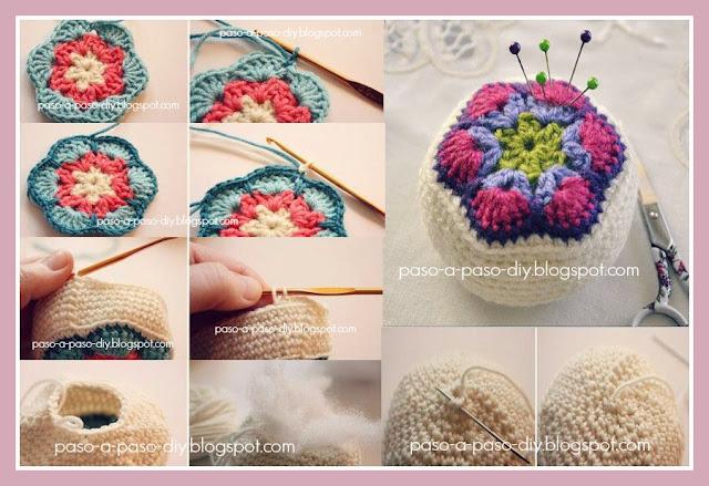 Alfiletero tejido al crochet