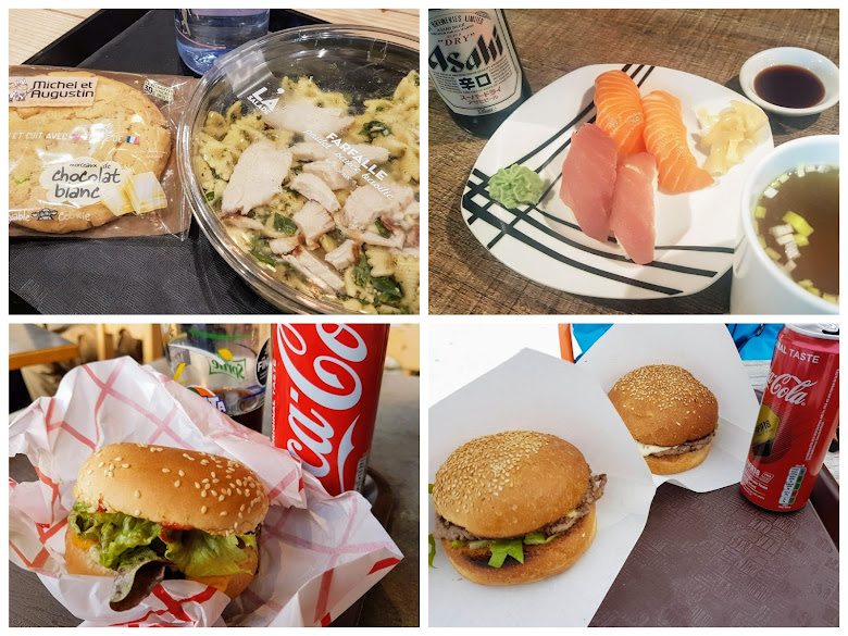 外面便是簡單吃,中午通常選擇快速的漢堡