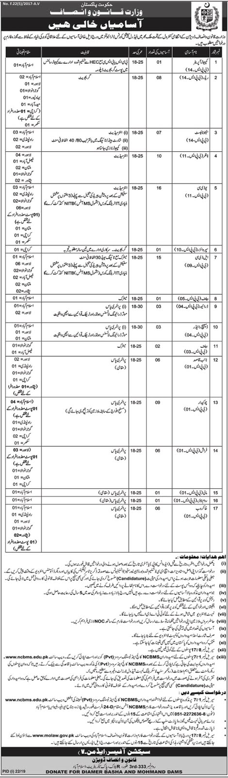 Ministry Of Law and Justice Jobs 2019 - Online Apply