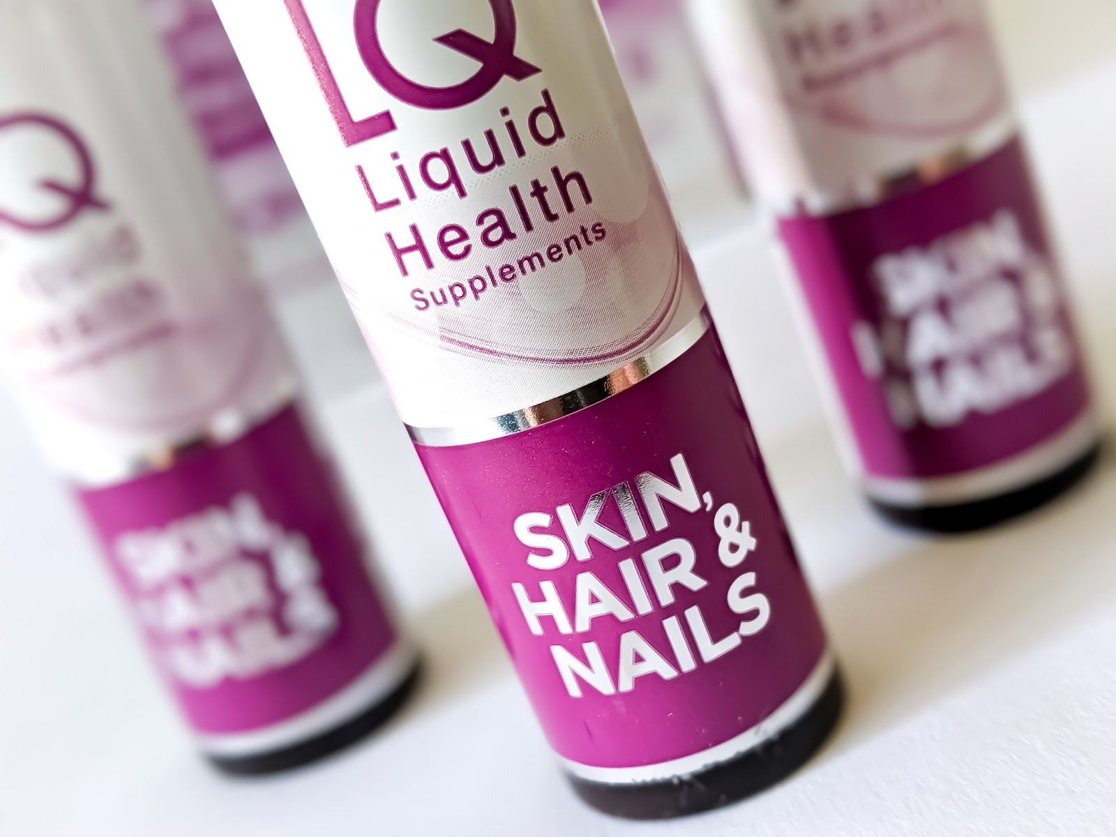 Close up image of LQ Liquid Health Hair, Skin and Nails