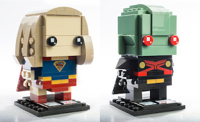 San Diego Comic-Con 2017 Exclusive Supergirl & Martian Manhunter BrickHeadz Set by LEGO x DC Comics