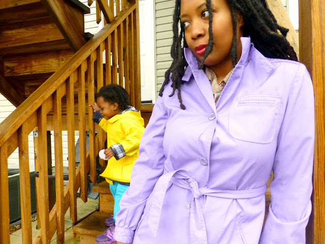 thrifted trench coat