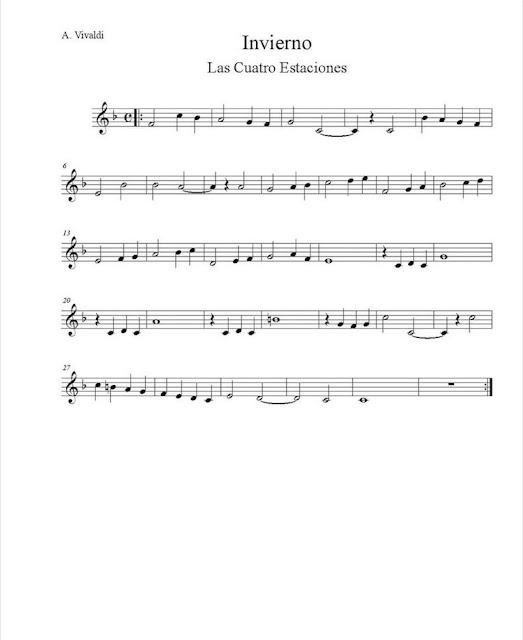 Vivaldi - Invierno (Las Cuatro Estaciones) partituras