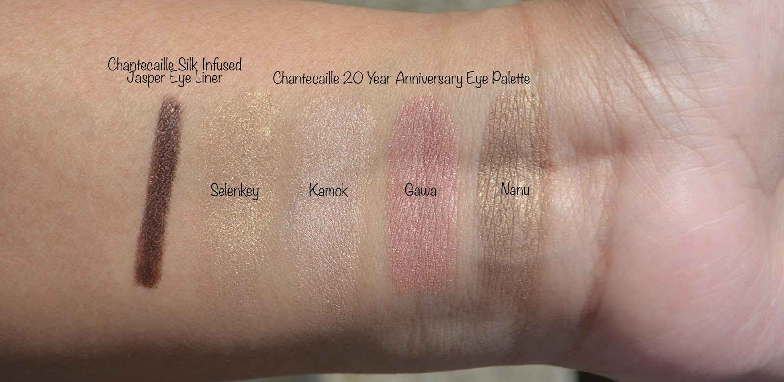Chantecaille 20 Year Anniversary Eye Palette swatches